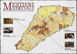 Cartina Mestieri Medievali