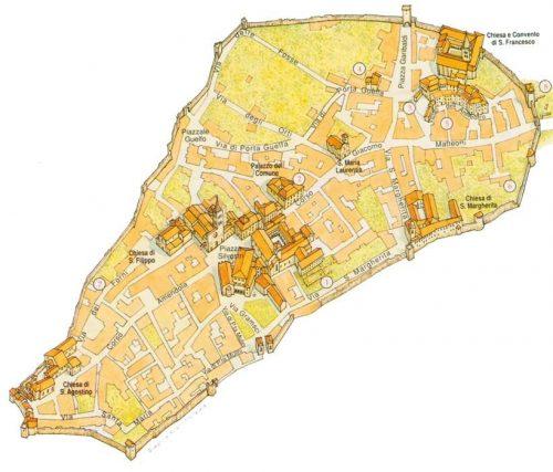 Mappa Mestieri Medievali a Bevagna